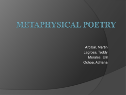 Metaphysical Poetry - Martin Ray Arcibal