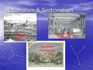 Nationalism & Sectionalism ppt