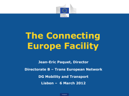 The Connecting Europe Facility - Jean