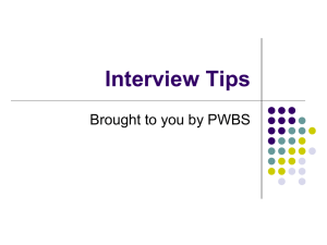 Interview tips from PWBS - Dolphin Student Group Web Accounts