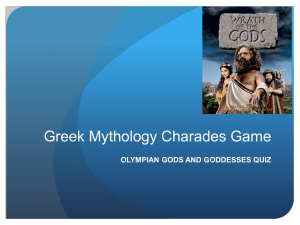 Greek Mythology Charades Game