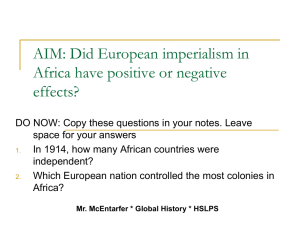 AIM: Why were European imperialist nations successful conquerors?