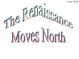 Section 2 Renaissance Moves North Digital Presentation