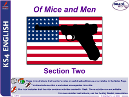 Of Mice and Men - Section Two - PBworks