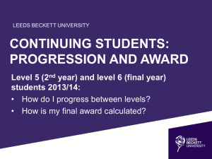 Progression and Award Regulations Presentation
