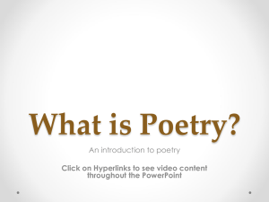 What is Poetry For Website