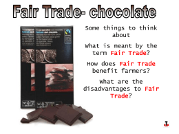 Fair Trade - Radical Geography