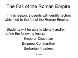 The Fall of the Roman Empire - White Plains Public Schools