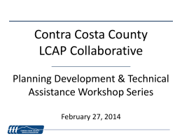 Planning Development & Technical Assistance Workshop Series