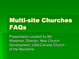 Multi-site Churches FAQs