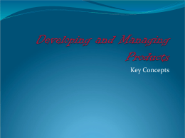 10. Developing and Managing Products
