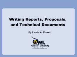 Writing Reports, Proposals & Technical Documents