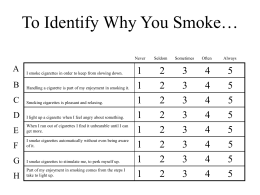 Smoking PowerPoint Handouts