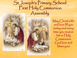 St Joseph`s Primary School First Holy Communion 27th May 2012