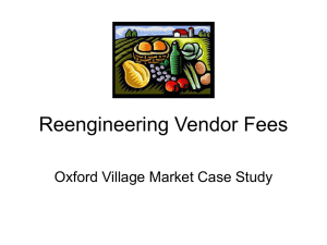 Reengineering Vendor Fees