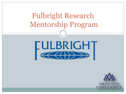 Fulbright Mentor Research Program