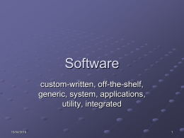 Software Presentation