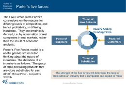 Porter`s 5 Forces - Guide to Business Planning