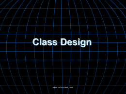 Class Design - techstudent.co.cc
