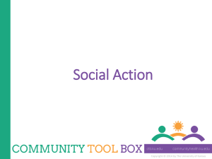 Social Action - The University of Kansas