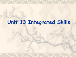 1. Why should we integrate the four skills?