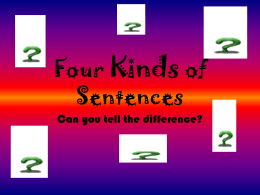 Four types of sentences quiz