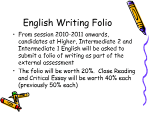 English Writing Folio