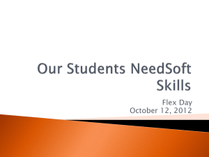 Flex Day Presentation:Student Needs/Soft Skills
