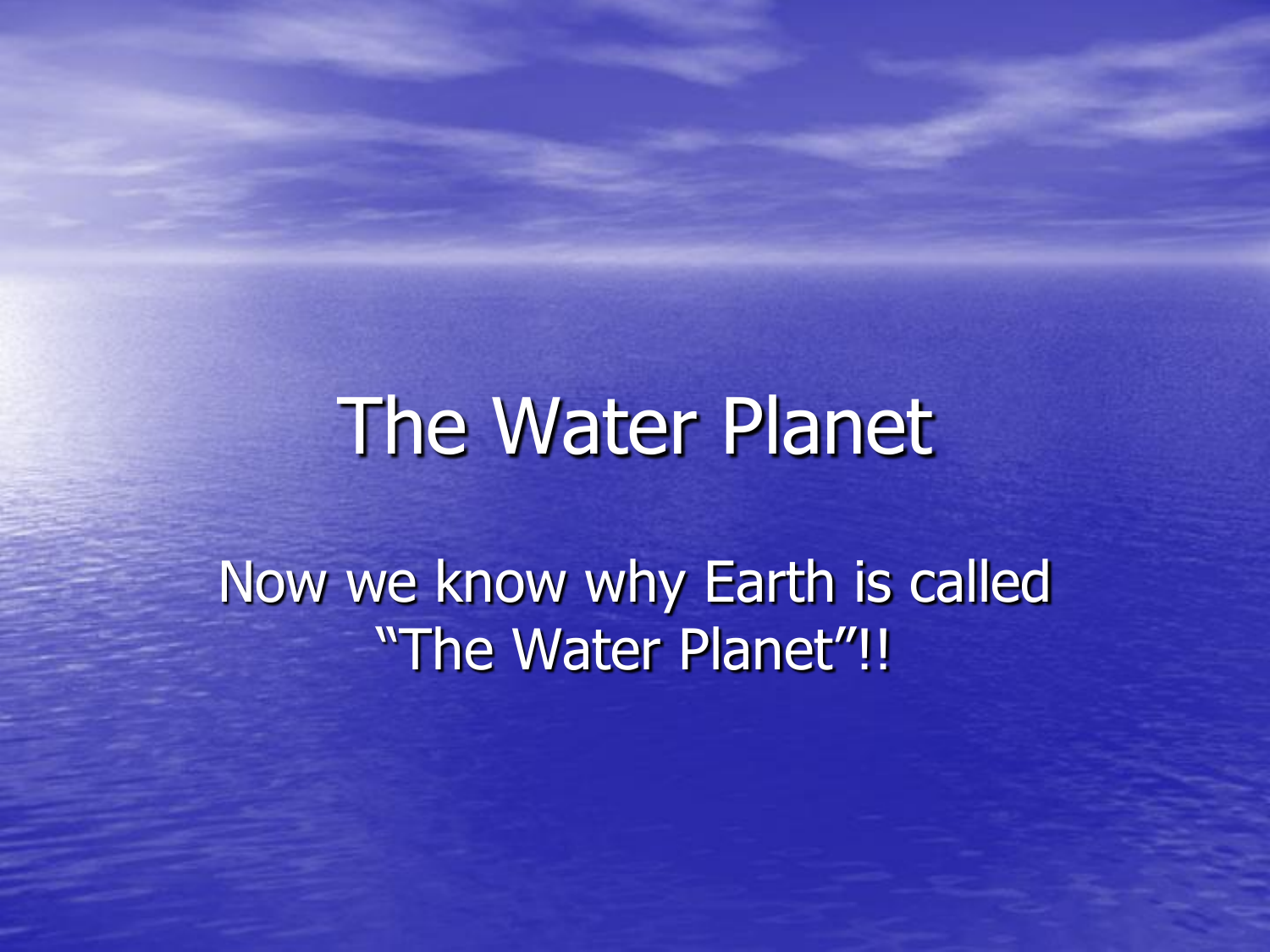 Why was water called water