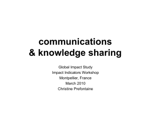 communications & knowledge sharing