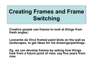 Creating Frames and Frame Switching