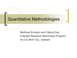 Quantitative Methodologies