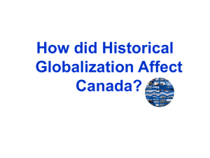 Historical Globalization in Canada