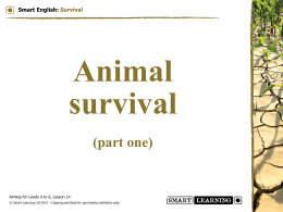 (part one) Smart English: Survival – Animal