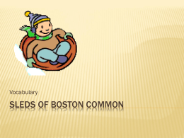 Sleds of Boston Common Vocabulary