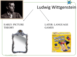 Wittgenstein Language Games