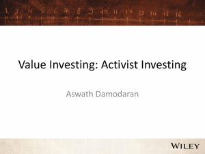 Session 15- Value Investing (Activists)