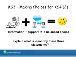 KS3 – Making Choices for KS4 (2)