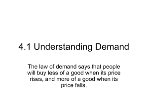 4.1 Understanding Demand