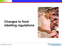New food labelling regulations