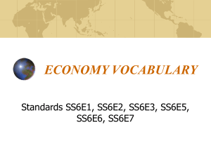 ECONOMY VOCABULARY