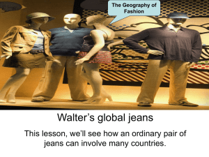 The Geography of Fashion