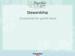 Stewardship - Together In God`s Love