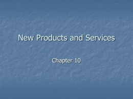 Chapter 10: Product Concepts
