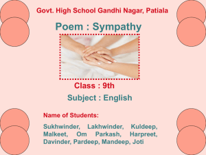 Sympathy_9th_English_GHSGandhiNagar