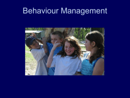 10 Basic skills in behaviour management