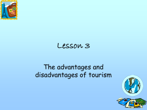 Advantages and disadvantages of tourism
