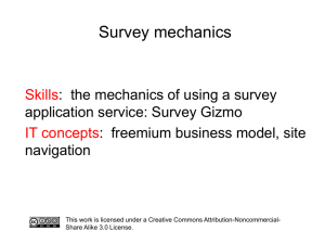 Survey mechanics presentation