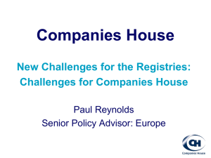 Challenges for Companies House