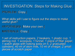 inv_making glue - Moanalua Middle School